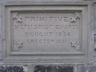 Plaque embedded into the wall of the present day Yeadon Methodist Church